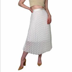 Victoria Beckham Pleated Midi Skirt